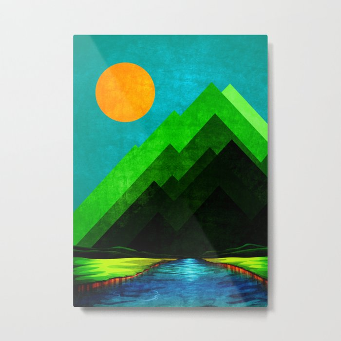 Green Peak XXVI Metal Print