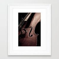cello Framed Art Prints featuring Cello by Sergio Bastidas