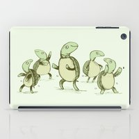turtles iPad Cases featuring Dancing Turtles by Sophie Corrigan
