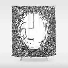 DP RAM abstract line art by melisssne Shower Curtain