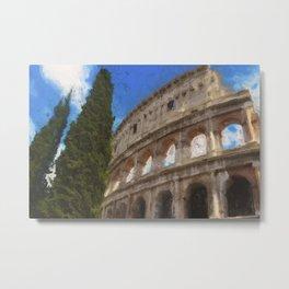 Rome, Colosseum Metal Print