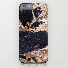 Black and Gold Marble iPhone 6 Slim Case