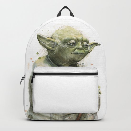 Yoda Jedi Portrait Sci-Fi Backpack