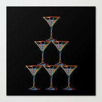 champagne Canvas Prints featuring Champagne by Rceeh