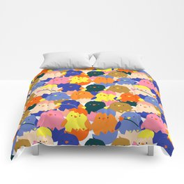 Colored Baby Chickens pattern Comforters