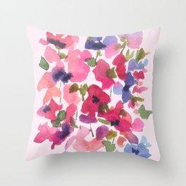 Monet's Rose Garden Throw Pillow