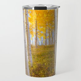 Aspens In Autumn, Utah Travel Mug