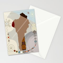 Benin Stylized Stationery Cards