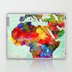 Africa Watercolor Map Laptop & iPad Skin