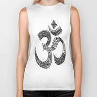 ohm Biker Tanks featuring Ohm by Cynthia Nyongesa