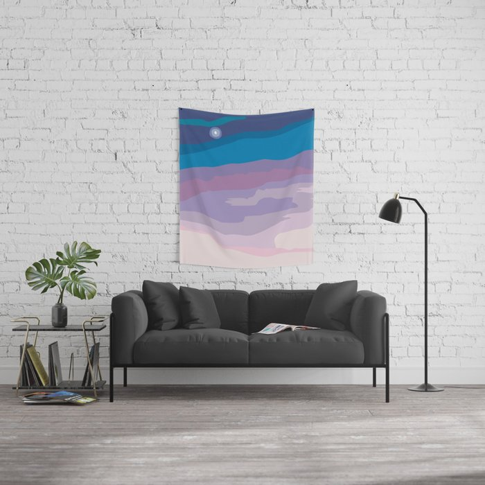 Painted Sunset Wall Tapestry