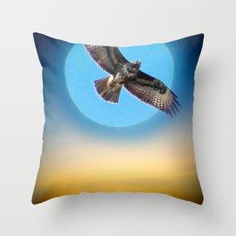 Moments - Full Moon - Sunset Throw Pillow