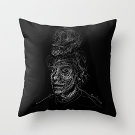 Andy.W Skull Throw Pillow