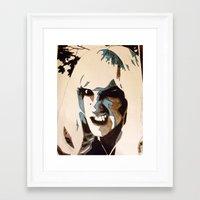 teeth Framed Art Prints featuring Teeth by Rebekah Robinson
