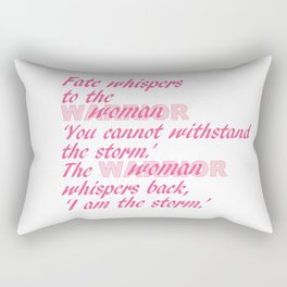 Fate Whispers pink Rectangular Pillow