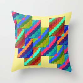 Aztec Eyes Throw Pillow
