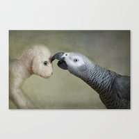 friendship Canvas Prints featuring Friendship by Ellen van Deelen