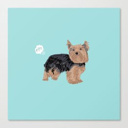 yorkie funny farting dog breed pure breed pet gifts yorkshire terrier Canvas Print