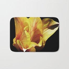Single Yellow Tulip Bath Mat