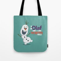 olaf Tote Bags featuring Olaf by An Illustrated Dream