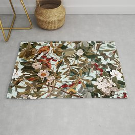 Floral and Birds XXVII Rug