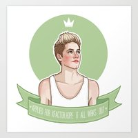 niall Art Prints featuring Niall Horan by vulcains