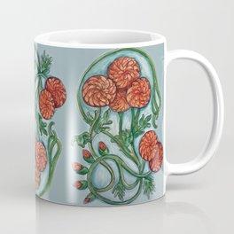 Art Nouveau Chrysanthemum  Coffee Mug