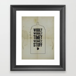 Dr. Who Framed Art Print