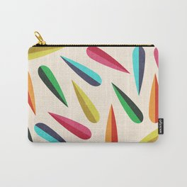 Feathers II Cascading Colors Carry-All Pouch