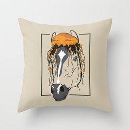 Horse and jellyfish Throw Pillow