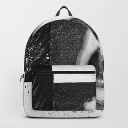 Black and White Avocado Backpack