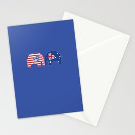 U.S.-Australia Friendship Elephants Stationery Cards