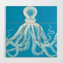 Octopus | Vintage Octopus | Tentacles | Turquoise Blue and White | by eclecticatheart