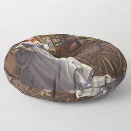 Steampunk Cinderella Floor Pillow