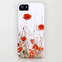 #Poppy and #Gras #Pattern iPhone Case