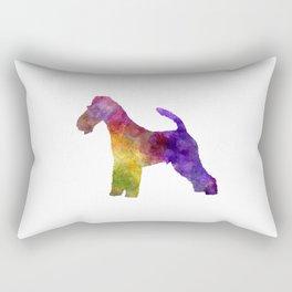 Fox Terrier in watercolor Rectangular Pillow