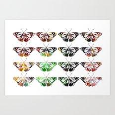 Butterflies - Digital Work Art Print