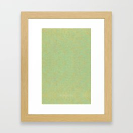 Green and Gold Pattern Framed Art Print