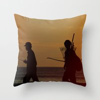 law Throw Pillows featuring Trade Law by jarjake