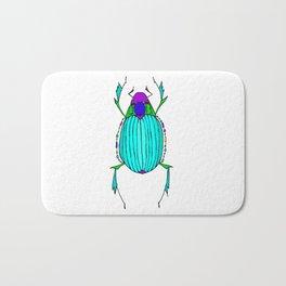 Egyptian Scarab Beetle Turquoise Bath Mat