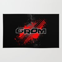honda Area & Throw Rugs featuring GROM, Red by TRL Studios