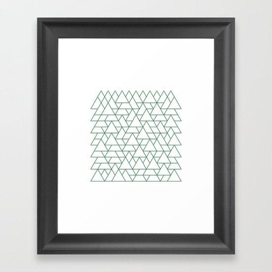 #264 Mountain range – Geometry Daily Framed Art Print
