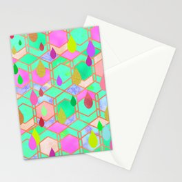 Aquatic abstraction drops Stationery Cards