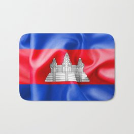 Cambodia Flag Bath Mat