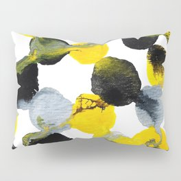 Yellow and Gray Interactions Pillow Sham