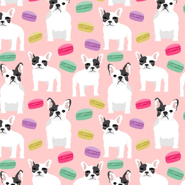French Bulldog macaron paris cute puppy frenchie gifts for dog breed owner pet friendly custom dog Leggings