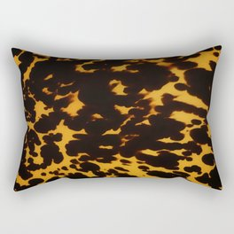 Art Deco polished Tortoise Shell Rectangular Pillow