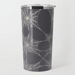 Spiderweb Pattern in Black Travel Mug