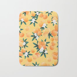 Orange Twist Flower Vibes #3 #tropical #fruit #decor #art #society6 Bath Mat