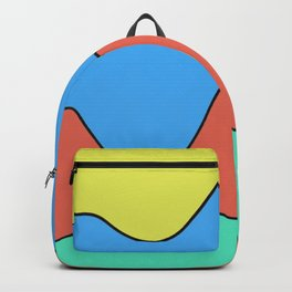 Big Bold Abstract Waves of Color Backpack